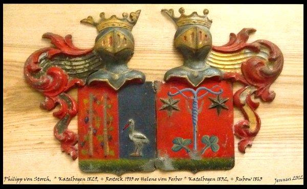 Wappen Ph. von Storch und H. von Ferber